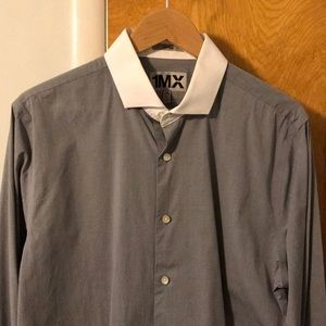Fitted Two-Two Spread-Collar Dress Shirt